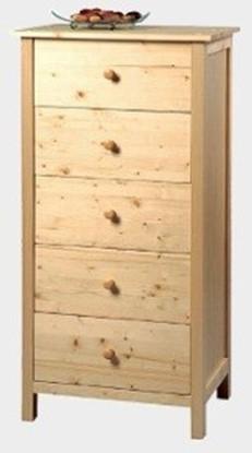 Dřevěná komoda se pěti zásuvkami Gazel