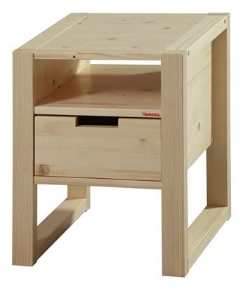 Dřevěný noční stolek k postelím Rhino . Gazel