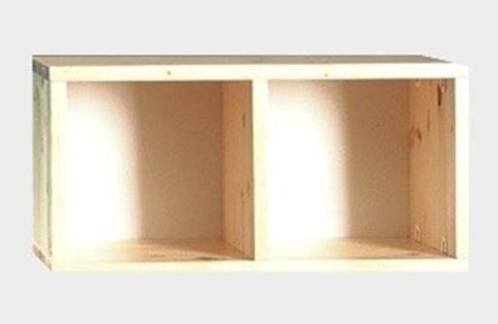 Nábytek z masivu, dřevěná police Gazel
