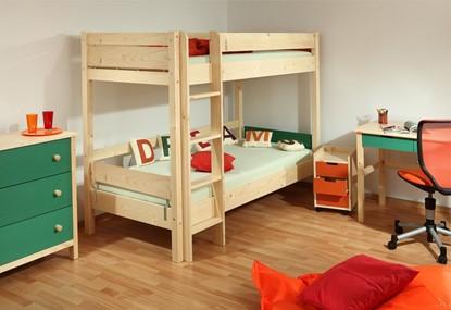 Dětská patrová postel Keyly přírodní Gazel