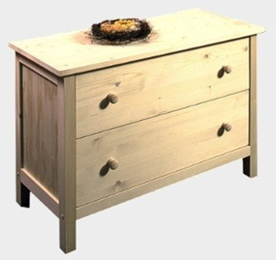 Dřevěná komoda se dvěma zásuvkami Gazel