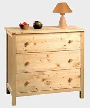 Dřevěná komoda se třemi zásuvkami Gazel