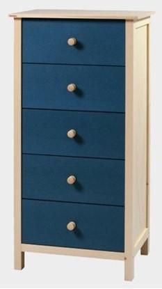 Dřevěná komoda s pěti zásuvkami, Gazel