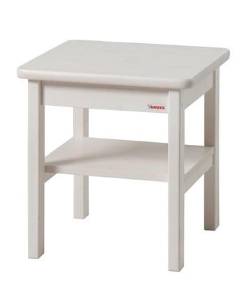 Dřevěný noční stolek k bílým postelím Gazel