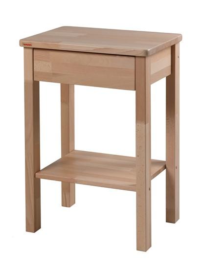 Noční stolek bukový k postelím Senior a k Pečovatelským lůžkům.