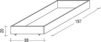 Dřevěná přistýlka buková pod postele Gazel.