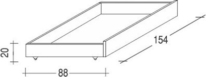 Úložný prostor pod postele tříčtvrteční buk bílý. Gazel