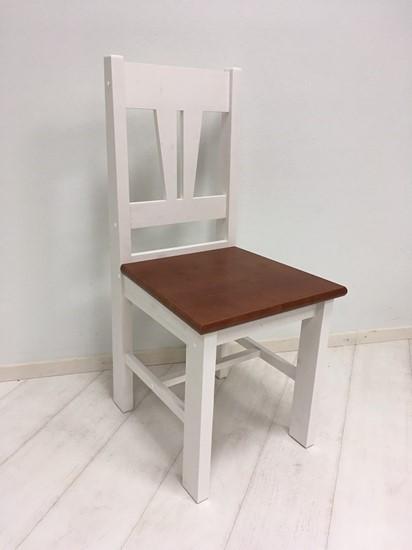 Židle IV. bílo-hnědá