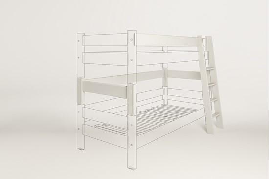 Dřevěný nábytek Gazel, spojovací díl k posteli Sendy bílá.