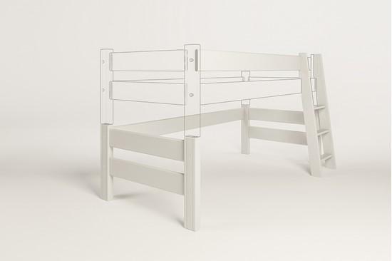 Dřevěný nábytek Gazel, zvyšující díl k posteli Sendy bílá