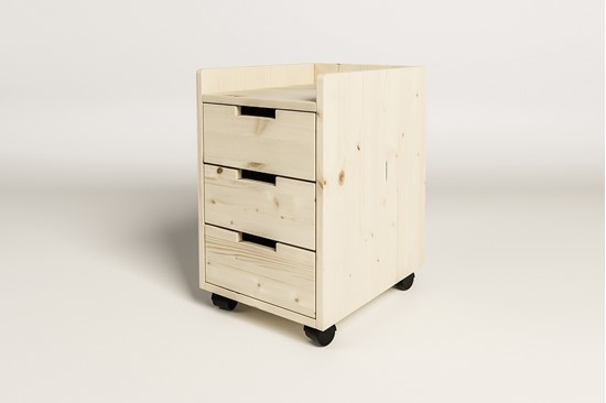 Dřevěný kontejner k psacímu stolu Mario