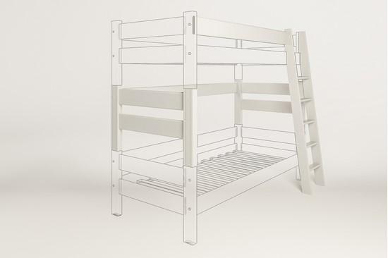 Dřevěný nábytek Gazel, spojovací díl k posteli Sendy buk bílá