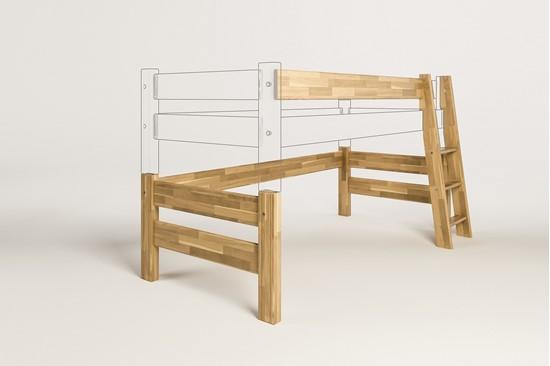 Dřevěný nábytek Gazel, zvyšující díl k posteli Sendy buková