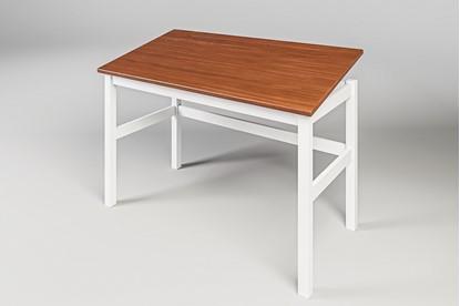 Dřevěný psací stůl bílo-hnědý. Gazel