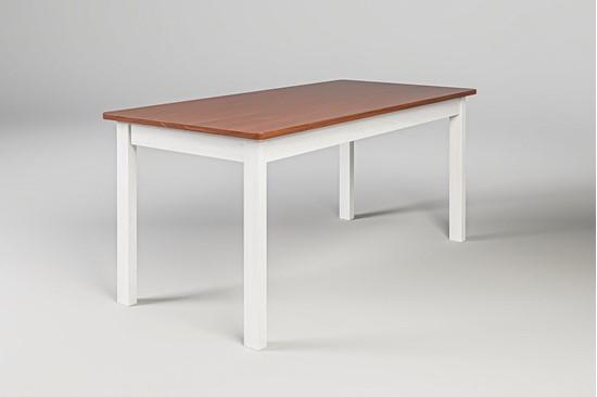 Dřevěný jídelní stůl bílo-hnědý Gazel.